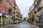Nice, France, on July 3, 2011. Typical urban view in rainy weather — Stock Photo