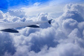 View of clouds from a plane window — Stock Photo
