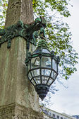 Dusseldorf, allemagne. belle lampe antique sur kyonigsalley. — Photo