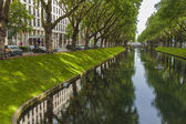 Düsseldorf, Germany, on July 5, 2014. Kyonigsalley - one of the central city streets — Stock Photo