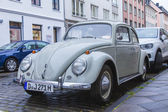Dusseldorf, Germany, on July 6, 2014. The vintage car on the city street — Stock Photo