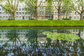 Dusseldorf, Germany, on July 5, 2014. Kyonigsalley - one of the central city streets — Stock Photo