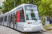 Dusseldorf, Germany, on July 6, 2014. The high-speed tram on the city street — Stock Photo