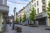 Dusseldorf, Germany, on July 6, 2014. Typical view of the city street. Summer morning — Stockfoto