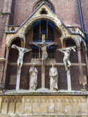 Dusseldorf, Germany, on July 6, 2014.  Architectural details of a basilica of Saint Lambert (the XVIII century) — Photo
