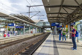 Dusseldorf, Germany. Railway station at Dusseldorf's airport — Foto de Stock
