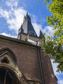 Dusseldorf, Germany, on July 6, 2014.  Architectural details of a basilica of Saint Lambert (the XVIII century) — Foto Stock