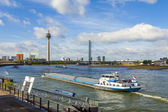 Dusseldorf, Germany, on July 6, 2014. View of Rhine Embankment — Photo