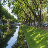 Dusseldorf, Germany, on July 6, 2014. Look on Kyonigsalley. Kenigsalley - one of the central city streets — Stock Photo