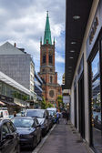 Dusseldorf, Germany, on July 6, 2014. Typical view of the city street. Summer morning — Foto Stock
