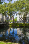Dusseldorf, Germany, on July 5, 2014. Kyonigsalley - one of the central city streets — Foto Stock