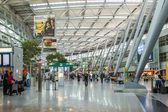 Dusseldorf, Germany, on July 12, 2014. Hall of a departure of the airport Dusseldorf International — Stock Photo