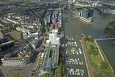 Dusseldorf, Germany, on July 6, 2014. View of the city from a survey platform of a television tower - Reynturm — Foto de Stock