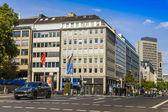 Düsseldorf, tyskland, på 6 juli 2014. typiska urban visa — Stockfoto