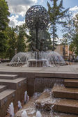 Moscow, Russia, on July 26, 2014. The beautiful fountain in a foot zone in the downtown — Stock Photo