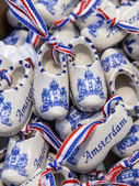 Typical souvenirs from the Netherlands on a counter shops — Stock Photo