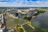 Dusseldorf, Germany, on July 6, 2014. View of the city from a survey platform of a television tower - Reynturm — Stock Photo