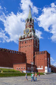 Moscow, Russia, on July 26, 2014. Spasskaya Tower of the Moscow Kremlin — Zdjęcie stockowe