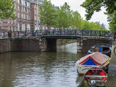 Amsterdam, Netherlands, on July 10, 2014. Typical urban view. — Stock Photo
