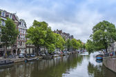 Amsterdam, Netherlands, on July 8, 2014. Typical urban view — Stock Photo