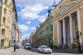 Moscú, rusia, el 26 de julio de 2014. vista urbana. calle ilyinka — Foto de Stock
