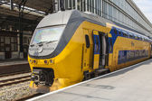Haarlem, Netherlands, on July 10, 2014. The Central Railway station, train at theplatform — Стоковое фото