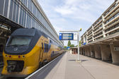 Haarlem, Netherlands, on July 10, 2014. The Central Railway station, train at theplatform — Stock Photo