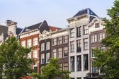 Amsterdam, Netherlands, on July 10, 2014. Typical facade of the old house — Stock Photo