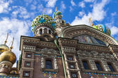 St. Petersburg, Russia, on July 22, 2012. Domes of the cathedral Church of the Savior on Blood — Stockfoto
