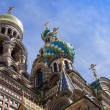 St. Petersburg, Russia, on July 22, 2012. Domes of the cathedral Church of the Savior on Blood — Stock Photo #51296757
