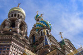 St. Petersburg, Russia, on July 22, 2012. Domes of the cathedral Church of the Savior on Blood — Foto de Stock