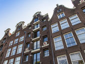 Amsterdam, Netherlands, on July 10, 2014. Typical architectural details of old buildings — Stock Photo