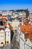 Prague, Czech Republic, on July 10, 2010. View of the city from the Powder Tower — Foto de Stock