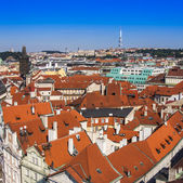 Prague, Czech Republic, on July 10, 2010. View of the city from the Powder Tower — Stock Photo
