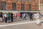 Amsterdam, países bajos, el 10 de julio de 2014. la estación central de trenes, detalles arquitectónicos — Foto de Stock
