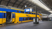 Amsterdam, Netherlands, on July 10, 2014. The Central Railway station, platforms. — Stock Photo