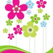 Card with Flowers — Stock Vector #14475895