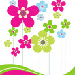 Stock Vector: Card with Flowers