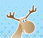 Christmas Moose — Stock Vector