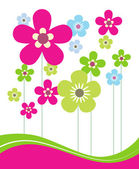 Card with Flowers — Stock Vector