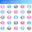 Collection of Web Icons - Stok Vektör