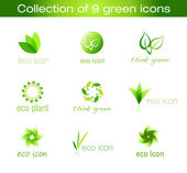 Collection of Eco Icons — Stock Vector