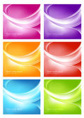 Six colorful backgrounds — Stock Vector