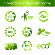 Royalty-Free Stock Vector Image: Collection of green icons