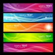 5 colorful banners — Stock Vector