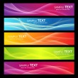 Stock Vector: 5 colorful banners