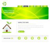 Eco Green Website — Stock Vector