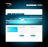 Site web de technologie — Vecteur