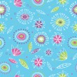 Floral seamless pattern 2 - Stock Vector