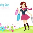 Spring sales background — Stock Vector